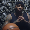 Knicks Carmelo Anthony Sits on the Iron Throne For a Game of Thrones Promo & Gives His Famous Stare [Video]
