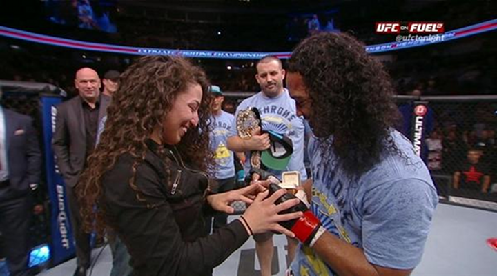 Benson Henderson Defended His UFC Lightweight Title, Then Proposed to His Girlfriend on Live Television [Video]