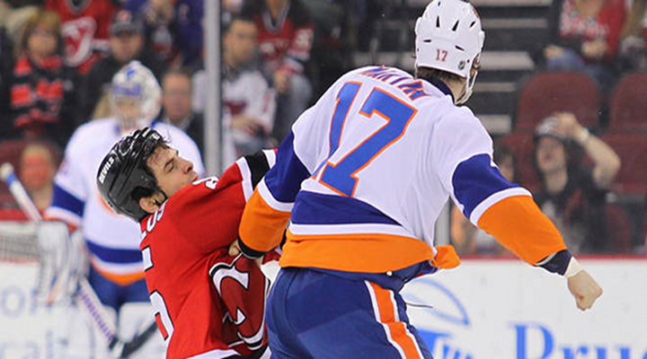 """You Got Knocked the F*ck Out!"": Islanders Matt Martin Knocked Out Tom Kostopoulos of the Devils [Video]"