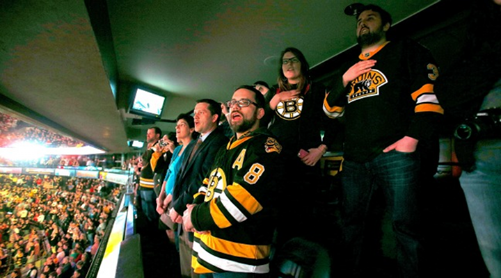 Boston Fans Singing the National Anthem at Bruins-Sabres Game Was Amazing [Video]