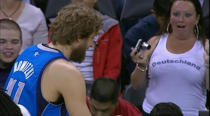 Mavericks Dirk Nowitzki's Biggest Fan Seemed Absolutely Thrilled to See Dirk Last Night