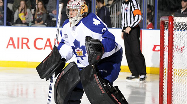 AHL's Drew MacIntyre's Unbelievable Behind-the-Back Save Has to Be the Save of the Year [Video]