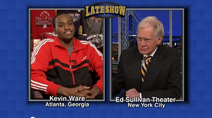 Kevin Ware Read The Letterman Top 10 List: Says He Hasn't Seen the Video of His Leg Break [Video]