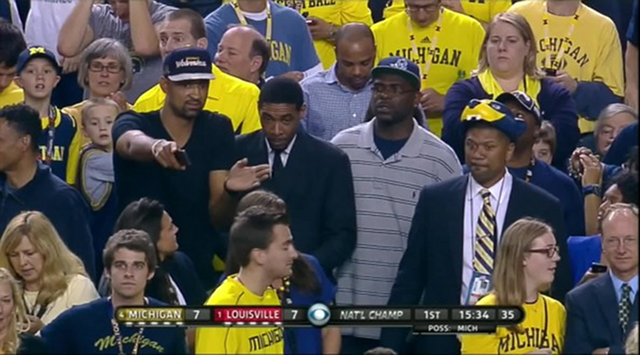 Chris Webber is at the National Championship Game, Joins the Fab 5 in Attendance [UPDATE]