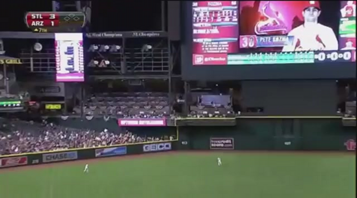 Man Jumps Out of the Way of Home Run Ball in Arizona & His Girlfriend/Wife Gets Hit in the Face [Video]