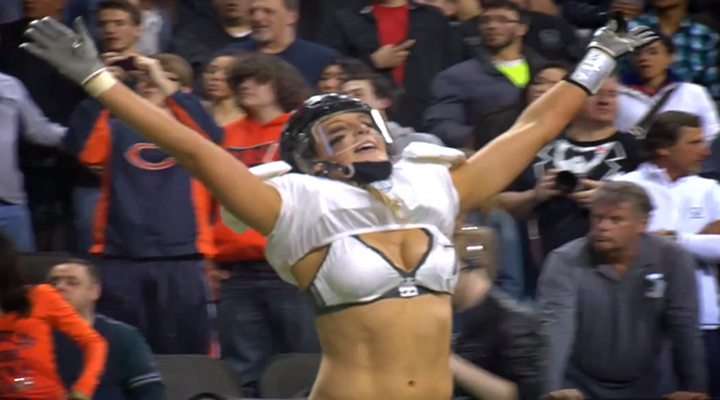Lingerie Football League Hit Leaves Defender on the Ground While Quarterback Screams Over Her Motionless Body [Video]