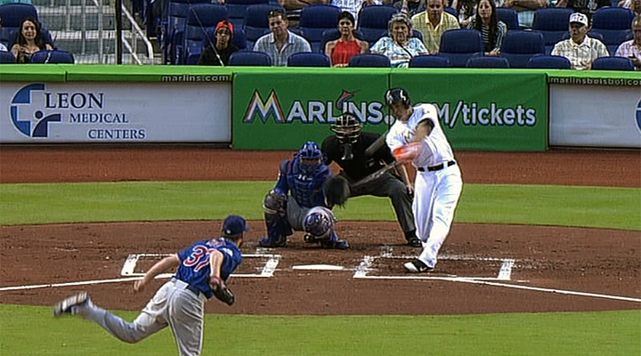 Miami's Lone Star Giancarlo Stanton Crushed a Home Run Over the Marlins Scoreboard [Video]