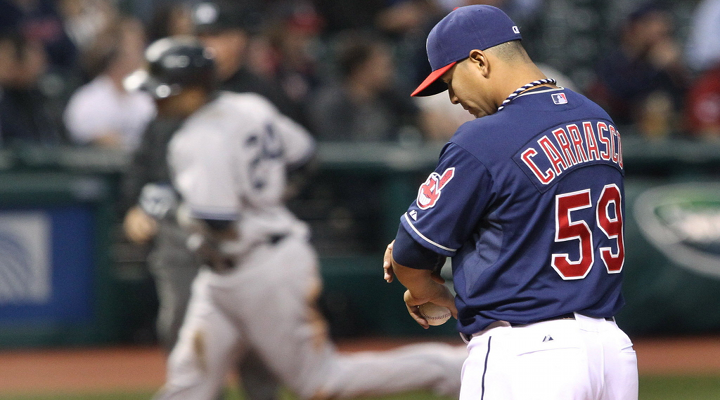Indians Pitcher Carlos Carrasco Won't Stop Throwing at People, Plunks Youkilis & Likely Facing Another Suspension [Video]