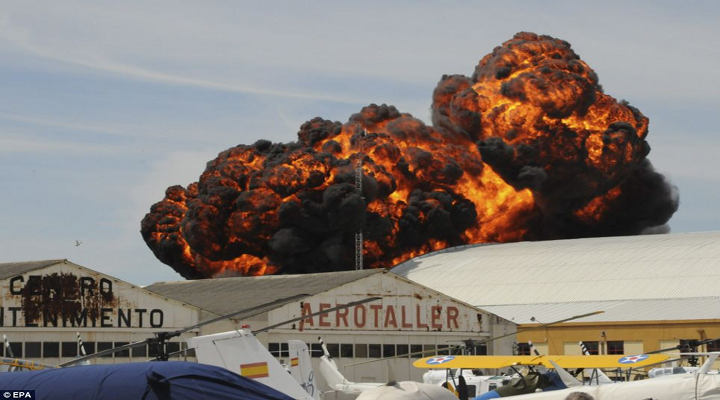 Trending Videos: Plane Crash at Madrid Air Show Results in Enormous Fireball [Video]
