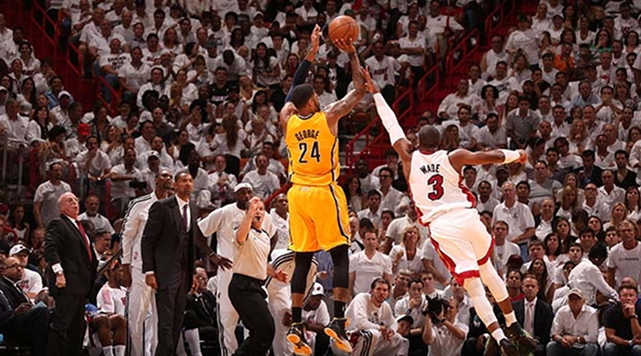 Paul George Nails Deep Three-Pointer to Tie Game & Force Overtime Against Heat in Game 1 [Video]