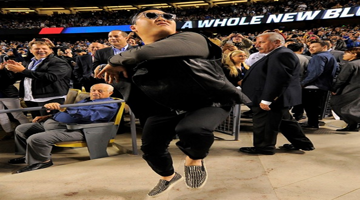 Tommy Lasorda's Reaction to Psy Dancing at the Dodgers Game Made for a Classic Photo & Video