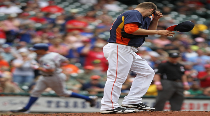 Astros Pitcher Jordan Lyles Hilarious Balk Pretty Much Sums Up Houston as the Worst Team in Baseball [Video]