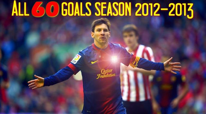 Lionel Messi Scored 60 Goals in During the 2012-13 Season & Here's Video of All of Them