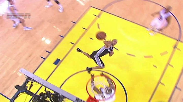 Spurs-Warriors Game 3: Tony Parker Makes Unbelievable Circus Shot While Falling Down [Video]