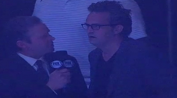 Matthew Perry Congratulated on Show Cancellation By Dan Moriarty of Fox Sports During Kings – Blues Game [Video]
