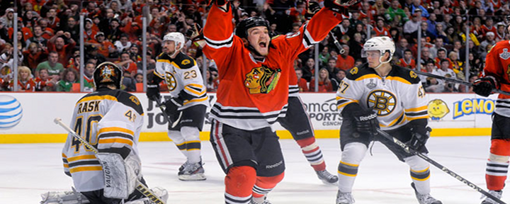Triple Overtime Thriller in Chicago: Blackhawks Andrew Shaw Scores Game-Winner Against the Bruins [Video]