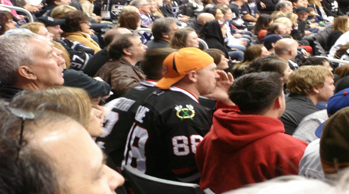 Hockey Fans Fought Behind the Glass During the Kings vs. Blackhawks Playoff Game [Video]