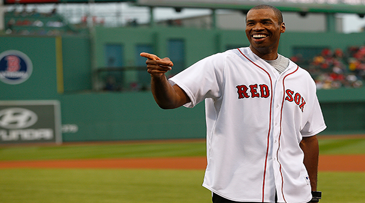 Jason Collins Throws Out First Pitch at Rangers-Red Sox Game [Video]