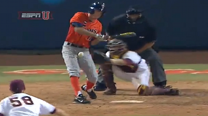 A Cal State Fullerton Baseball Player Takes a Slider Directly to the Groin [Video]