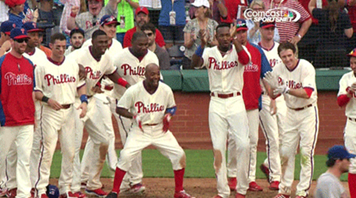 Jimmy Rollins Did the DX Crotch Chop to Celebrate Phillies Walkoff Win Over Mets [Video]