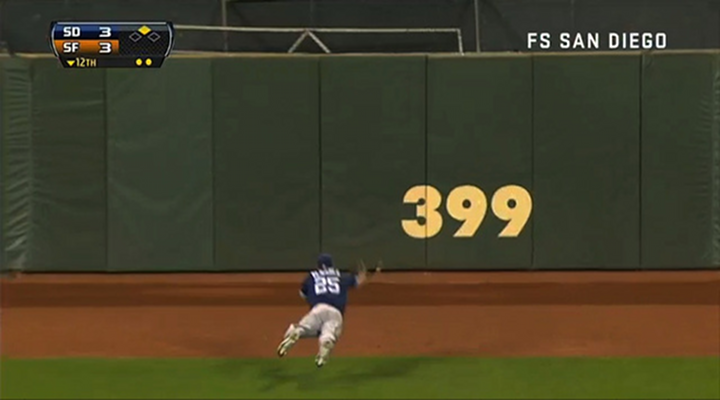 Will Venable Absolutely Laid Out to Make an Amazing Catch & the Padres Are Over .500 For the First Time in Two Years [Video]