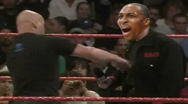 GIF of the Year: Stone Cold Steve Austin Hits Dwight Howard with The Stunner