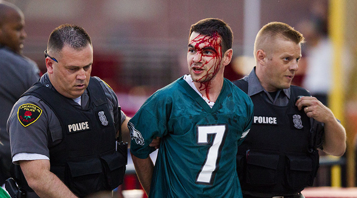 Philadelphia Eagles Fan Bloodied After Fight At LeSean McCoy's Charity Softball Game