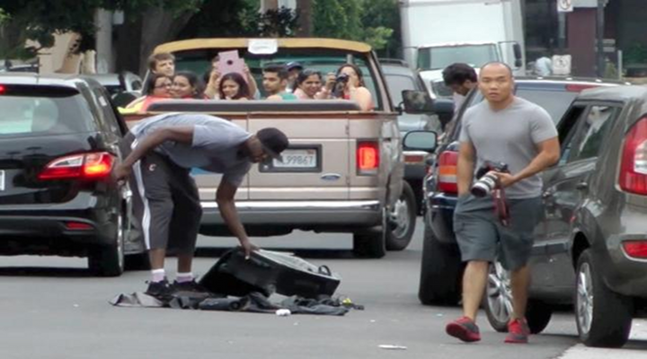 Lamar Odom Trashes Paparazzo's Car and Cameras over Infidelity Questions [Video]