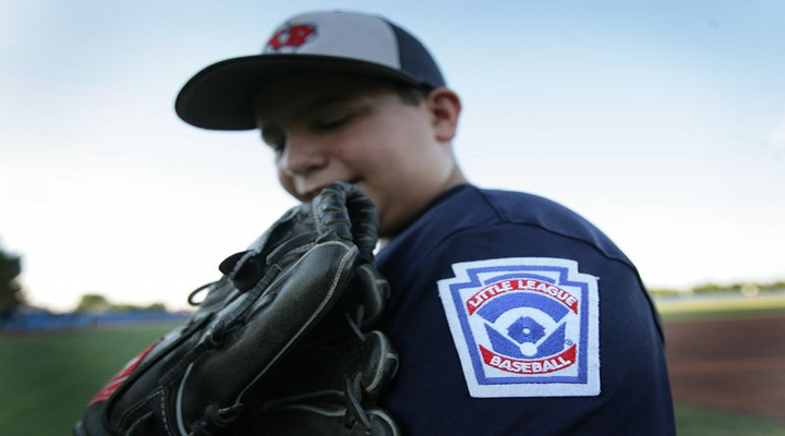 Little League World Series Curveball Causes Batter to Fall Out of Batter's Box [Video]