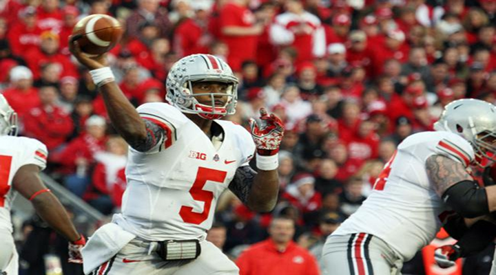 Braxton Miller: Ohio State QB Threw a 47-Yard Touchdown on His First Pass of the Year  [Video]