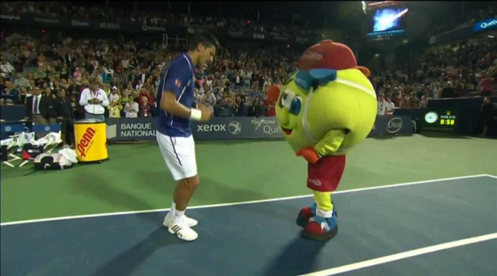 Novak Djokovic Danced with a Tennis Ball Mascot to Daft Punk at the Rogers Cup [Video]