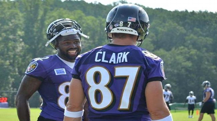 """You Got Knocked the F*ck Out!"": Ravens TE Dallas Clark Was Obliterated Over the Middle of the Field by Rahim Moore [Video]"