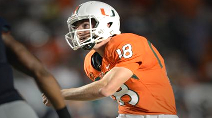 Even Football Players Can Act!: Miami Punter Executed Ridiculous 360 Spin Flop [Video]