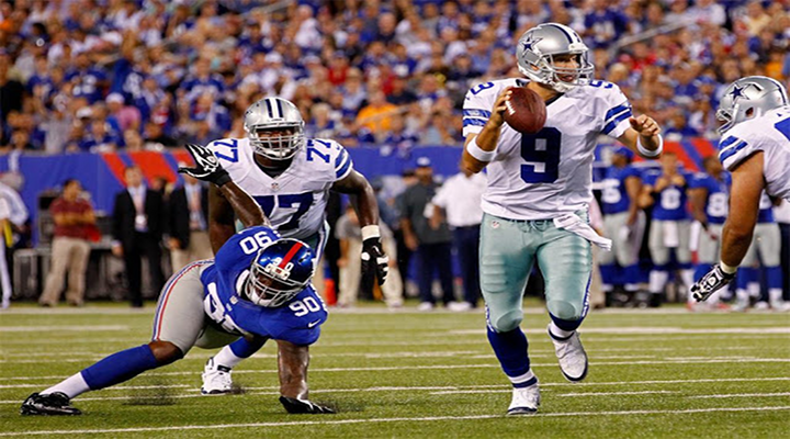 Tony Romo Got Sandwiched Between Two Defenders & Jason Witten Puked During Cowboys Win Over Giants [Video]