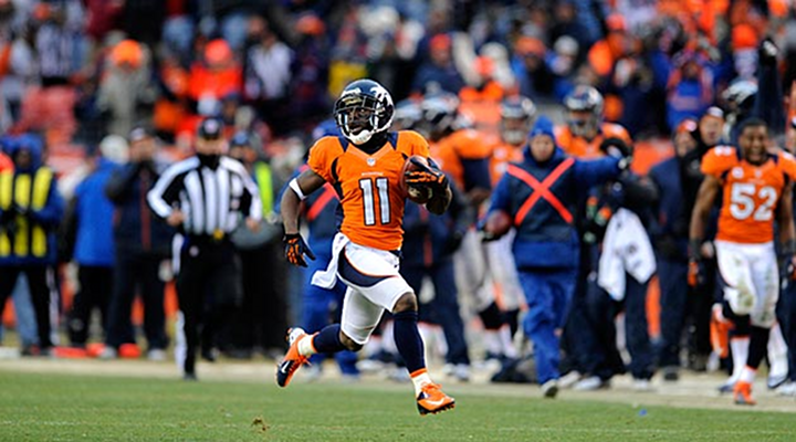 Broncos Speedster Trindon Holliday Returned a Kickoff 105-Yards for a Touchdown [Video]