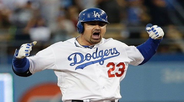 Dodgers 6 Cardinals 4: Adrian Gonzalez Homers Twice in Game 5 of the NLCS, Celebrates with Mickey Mouse Ears [Video]