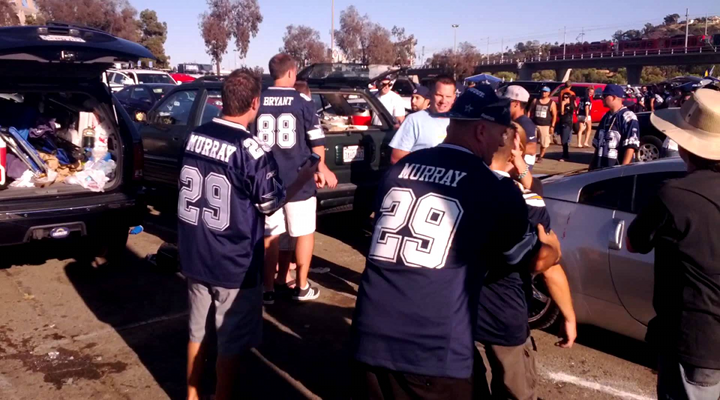 Cowboys and Chargers Fans Fight After Game: Two Bottles Get Smashed Over Heads [Video]