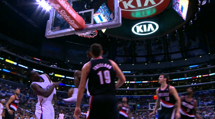 DeAndre Jordan Threw Down a Monster Alley-Oop & the Ball Hit Darren Collison in the Face [Video]