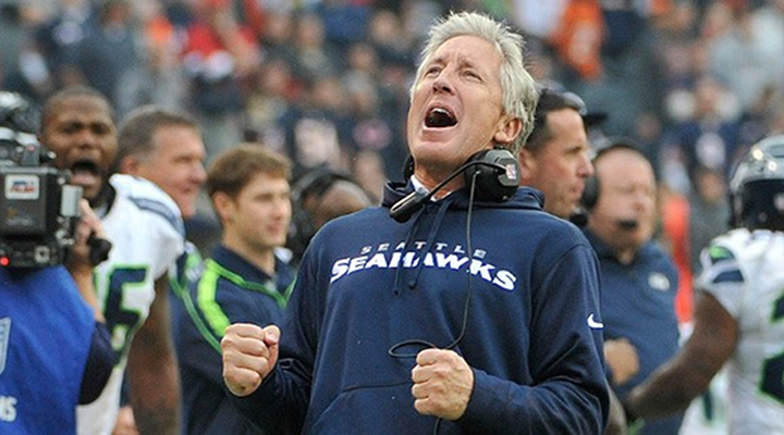 Pete Carroll Had a Belly Laugh After Watching Brandon Browner Trip on Grass to Miss Out on a Pick Six [Video]