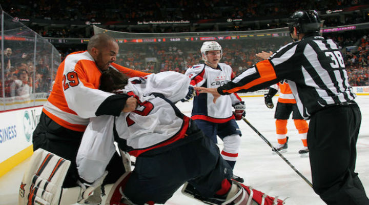 Capitals and Flyers Epic Line Fight Included One of the Best Goalie Fights of the Season [Video]