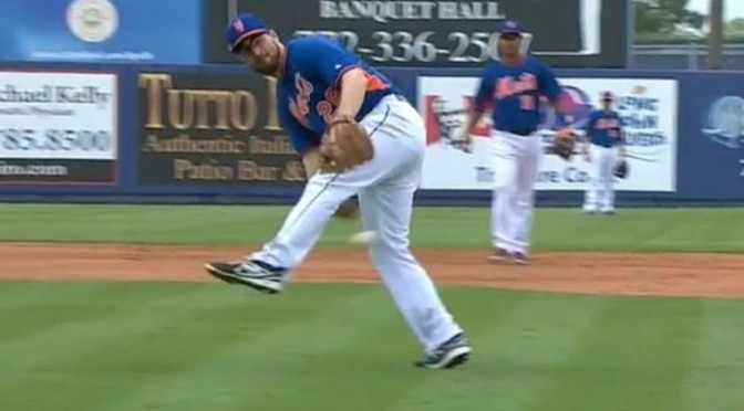 Daniel Murphy Goes Between the Legs to Throw Out Bryce Harper [Video]