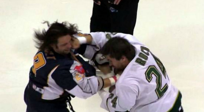 Awesome Hockey Fight Ends in Best Way Possible, Opponents Giving Each Other High-Fives [Video]
