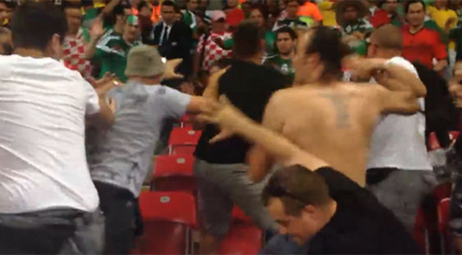 Fans from Croatia and Mexico brawled at the World Cup Monday [Video]