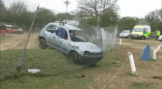 car-almost-takes-out-race-marshall