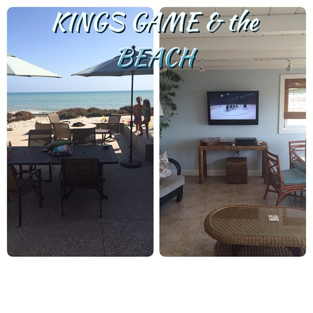 #Kings Game and the Beach, it's doesn't get any better! #GoKingGo #StanleyCupFinals #FamilyVacation #LivinTheLife