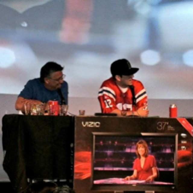 #throwbacktuesdays The #SportsCast first ever live event for the Super Bowl at Jon Lovitz Club. #2012 #BigGameParty #GiantsVsPatriots #ToadHopNetwork