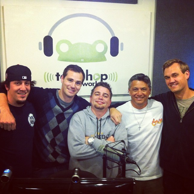 #TBT #ThrowBackThursday @mootecomedy @AndrewSleighter @johnnyicebox at the @toadhopnetwork Studios in Hollywood! #2012 #SportsCastFamily