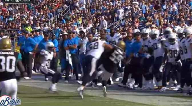"""You Got Knocked the F*** Out!"": Chargers' Toruek Williams Absolutely Destroys Jags Kick Returner [Video]"