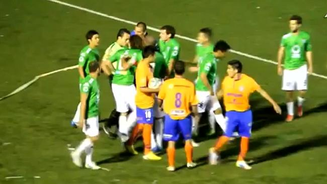 Argentine Soccer Match Abandoned After 12 Red Card Brawl [Video]