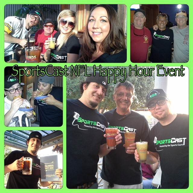 Great time with the #SportsCast family at the first NFL Happy Hour Event at @IslandsBurgers in West Covina! #LiveEvent #FoodAndDrinkTasting #NFL #SportsCastFamily #GoodTimes #IslandsRestuarant #TNF #BurgersAndBeer